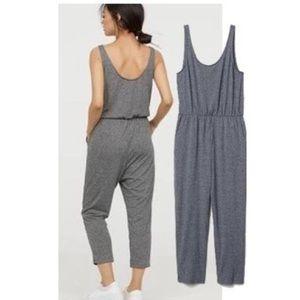 H&M Divided Gardening Sleeveless Gray Jumpsuit M